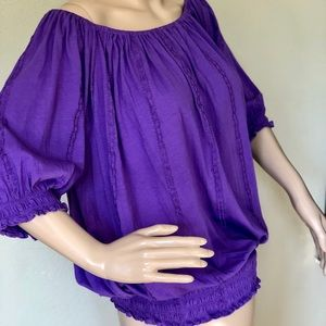 RALPH Lauren Purple on Off Shoulders COTTON XL